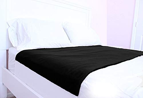 Cycleliners Period Bed Sheets Protector - Waterproof, Leakproof, Reusable, and Washable Menstrual Bed Pad (Full/Queen, Black)