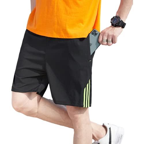 Katenyl Shorts Deportivos de Secado rápido de Talla Grande para Hombre M