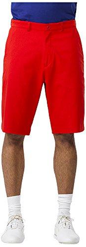 IJP Design, Pantaloni Corti Tecnici da Golf Uomo, Rosso (Red), 28