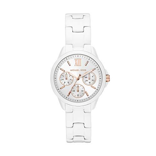 Michael Kors Women's Bradshaw Multifunction White-Tone Stainless Steel Watch MK6819