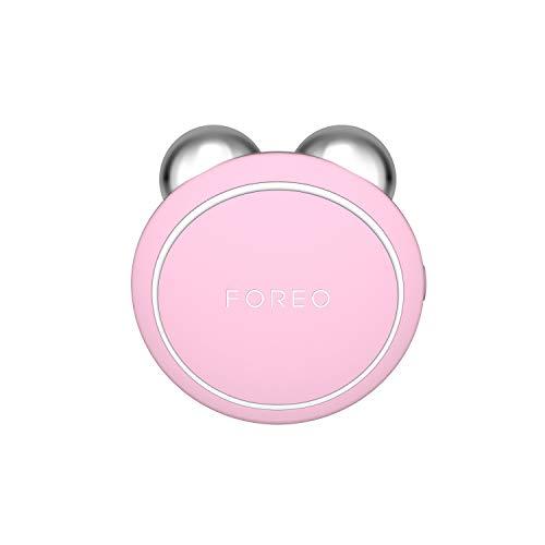 FOREO BEAR Mini Dispositivo per la Tonificazione del Viso a Microcorrente Collegato all'App con 3 Intensità, Pearl Pink
