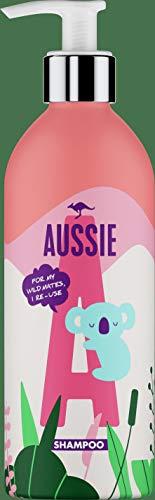 Aussie Miracle Moist Champú Botella De Plástico Rellenable Y Ecológica, Para Pelo Seco, Dañado Y Muy Sediento, 430 ml