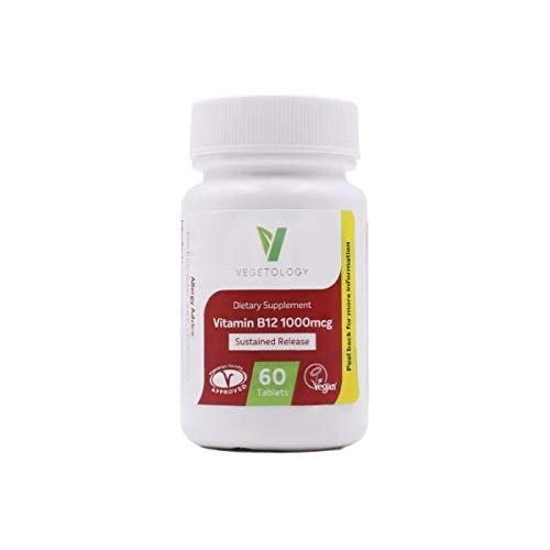 Scen-vitamine B12 Cyanocobalamine, 1000 mcg, verlengbaar, 60 tabletten (voor 2 maanden) VEGAN
