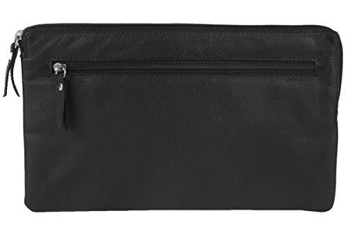 LEAS Banktasche & Geldtasche mit RFID Schutz gegen Datendiebstahl in Echt-Leder, schwarz - Special-Edition