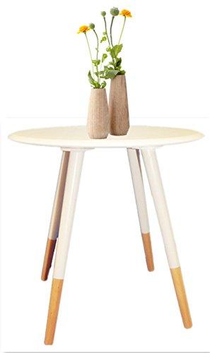1530651 Tamia Home-Tavolino, colore: bianco, dimensioni: 48 x 48 x 116 cm, colore: bianco