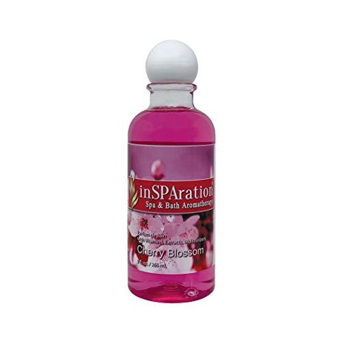 inSPAration Spa and Bath Aromatherapy 112X Spa Liquid, 9-Ounce, Cherry Blossom