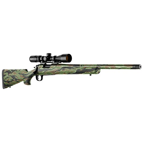 GunSkins Rifle Skin - Premium Vinyl Gun Wrap with Precut Pieces - Easy to Install and Fits Any Rifle - 100% Waterproof Non-Reflective Matte Finish - Made in USA - GS Vietnam Tiger Stripe