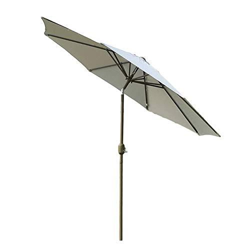 Sonnenschirme Grauer Patio-Gartentischschirm mit kippbarer Wnd-Kurbel, perfekt für den Garten im Freien, den kommerziellen Markt für Strandveranstaltungen, die Poolseite, 270 cm