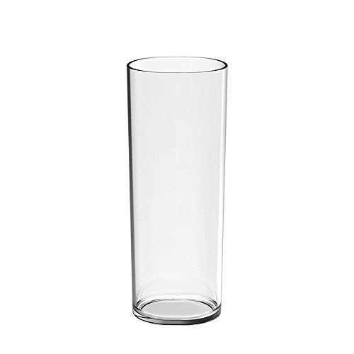 Vaso Tubo Irrompible Transparente (12 uds.)