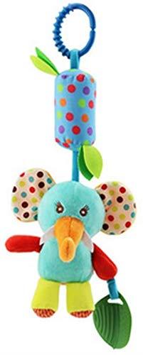DIVISTAR Baby Handbells Sonajeros bebé sonajeros de peluche elefante animal cochecito colgante Bell Play muñeca juguete