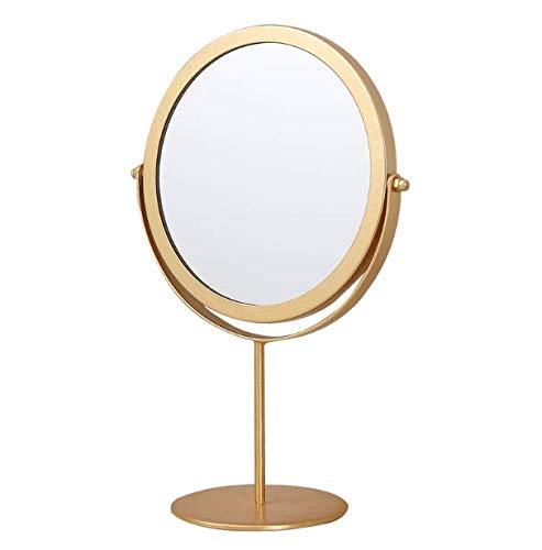 SZETOSY Tischspiegel – Goodchanceuk Metall-Drehspiegel, freistehend, verstellbar, 19 cm, rund goldfarben…
