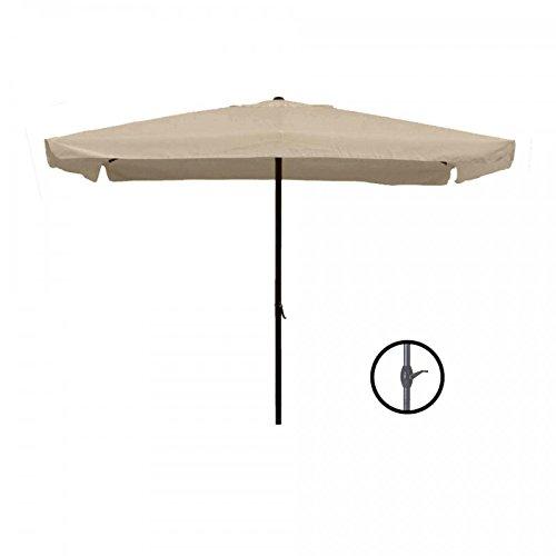 PRATIKO LIFE Ombrellone Da Giardino con Carrucola 2x3 MT-Tortora Sombrilla de jardín con polea, 2 x 3 m, Color Gris, TóRTOLA