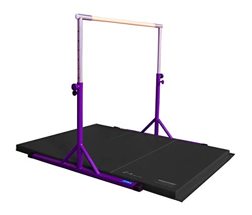 Product Image of the Z ATHLETIC Expandable Kip Bar Adjustable Height & 4ft x 6ft x 2in Mat for...