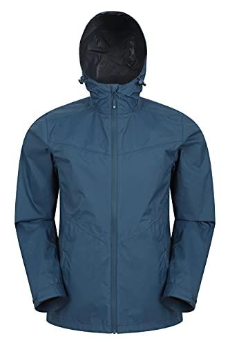 Mountain Warehouse Rift 2.5 Layer Extreme Chaqueta Impermeable para Hombre - Chubasquero con Costuras pegadas, Abrigo Ligero, Transpirable - Exterior, Senderismo Azul petróleo XXL