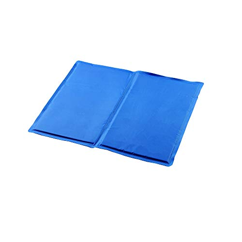 hanlin Dog Cooling Pad, Anti-inflammatory, Pressure Activated, Non-Toxic Gel Pet Dog Cooling Pad Self-Cooling, Blue (Available In 3 Sizes)