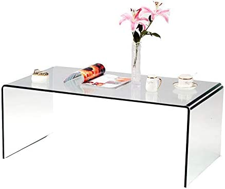 Best SMARTYK 1/2 Inch Thicken Tempered Glass Coffee Tables, Modern Decor Clear Coffee Table for Living Ro