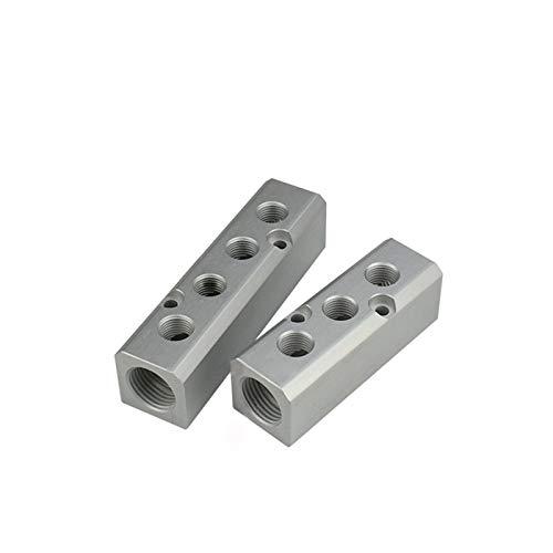 ooege OOE 1 UNID Aluminio de Aluminio Bloques de Bloques de Bloques de Bloques de Bloques de Conector rápido Distribuidor (Color : 4 Ways 6 Ports)