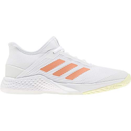 adidas Adizero Club w, Zapatillas de Tenis Mujer, FTWR White/Amber Tint/Sky Tint, 40 2/3 EU