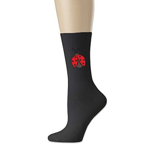 Men High Ankle Cotton Crew Socks Cute Ladybug Casual Sport Stocking