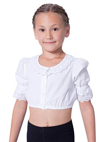 Dirndlbluse Kinder weiß Größe: 104