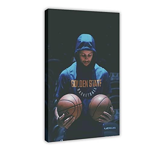 Stephen Curry American Basketball Player 10 Póster de lona para decoración de dormitorio, deportes, paisaje, oficina, habitación, marco de regalo, 60 x 90 cm