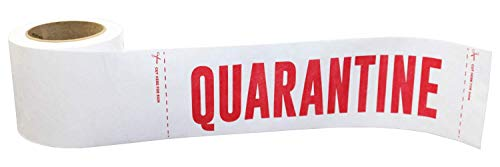 """Quarantine Warning Tyvek Sign Barrier Tape 