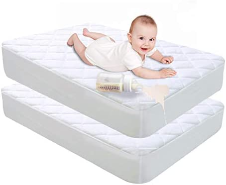 Jadeite Star 2 Pack Crib Mattress Pad Premium Breathable Organic Bamboo Mattress Protector Fitted product image