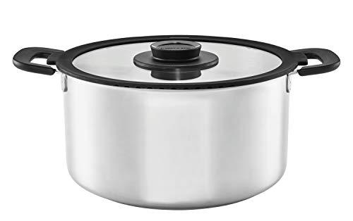 Fiskars Fait-tout avec couvercle, Capacité : 7 litres, Tout feux dont induction, Acier inoxydable/Plastique, Ø 28 cm, Functional Form, 1026579