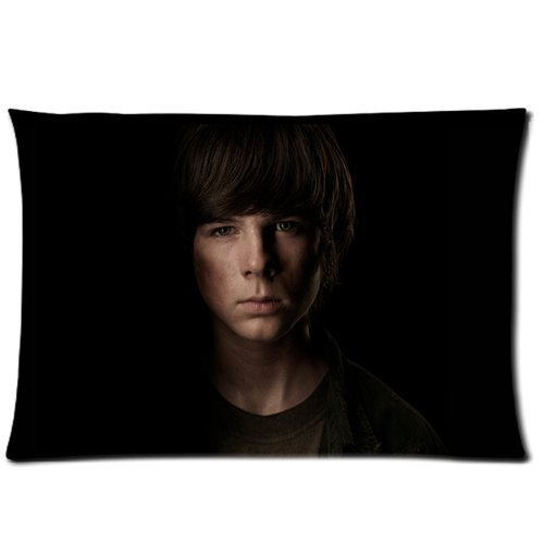 About Custom The Walking Dead Carl Grimes Chandler Riggs Custom Pillow Case Cover Protecter with Zipper Printed Fundas para Almohada (50cmx65cm)
