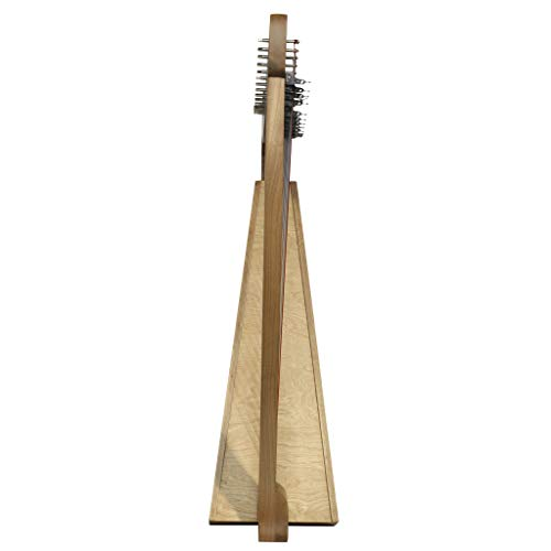Design Toscano Celtic Knot Walnut Heather Harp Instrument and Display, 35 Inch, Walnut and Birch Wood, Natural