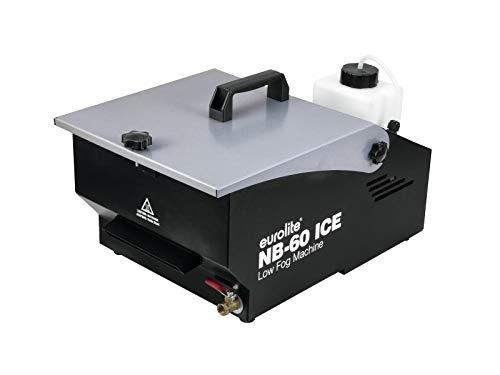 Eurolite NB-60 ICE Bodennebler | Kompakte Bodennebelmaschine mit 600 W, Timer, Eiswürfel kühlen den Nebel ab | Eine Tankfüllung und 2 kg Eis reichen für ca. 1,5 Stunden Nebeln