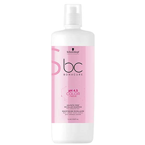 Schwarzkopf BC Bonacure - Champú Micelar Sin Sulfatos, pH 4.5 Color Freeze, 1000 ml