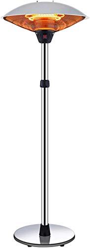 lizubing Outdoor Electric Patio Heater,Lifting Adjustment Umbrella Standing Halogen Heater Electric Heater 3-adjustable Heater Sturdy Base For Indoor Garden (Color : A2200w, Size : 61x35cm)