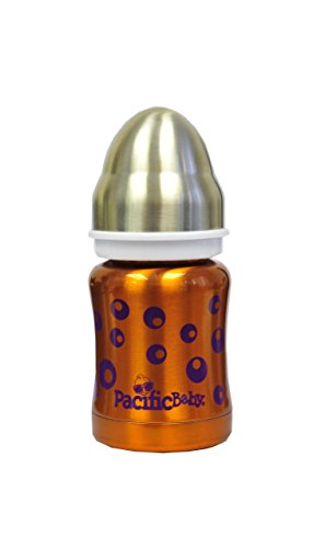 Pacific Baby Termo - Biberón 3 en uno, 120 ml, color naranja