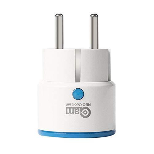 QiKun-Home NAS-WR01ZE Z-Wave Enchufe de alimentación Inteligente Enchufe de la UE Enchufe Repetidor Extensor Enchufe de Salida Sistema de Alarma de automatización del hogar Inteligente Blanco EU