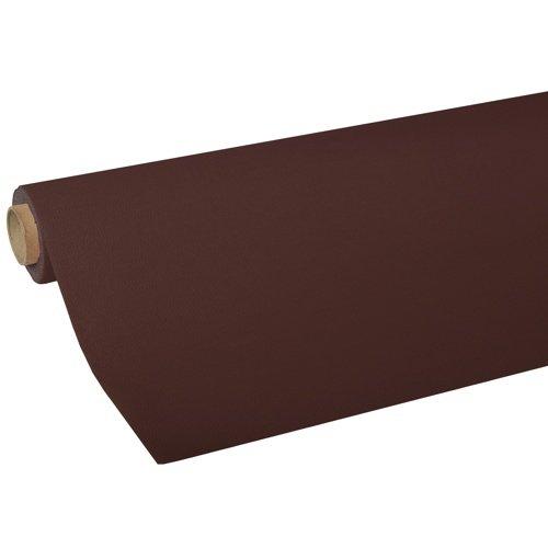 82032 - 5 m x 1,18 m Tischdecke braun, Tissue ROYAL Collection mit stoffähnlicher, leinenartiger Prägung