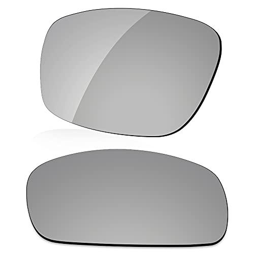 LenzReborn Reemplazo de lente polarizada para gafas de sol Costa Del Mar Cat Cay - Más opciones, Gris Plata - Espejo polarizado, Talla única