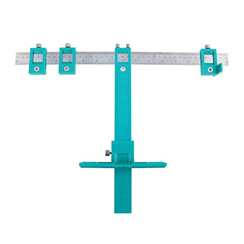 Detachable Hole Punch Locator Jig Tool Drill Guide Sleeve for Drawer Cabinet Hardware Dowel Wood Drilling Hole Punching Ruler,B