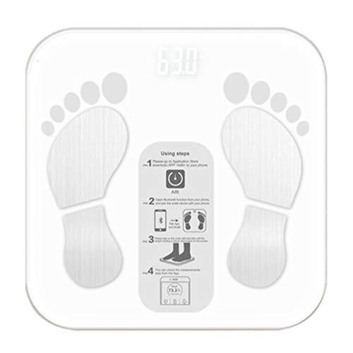 TOPBATHY Salle de Bains numérique Balance de Graisse corporelle Bluetooth pèse-Personne Intelligent sans Fil avec iOS Application Android
