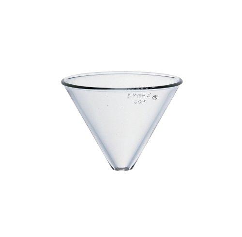 Corning Pyrex Borosilicate Glass Plain Stemless Funnel, 100mm Top I.D