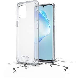 Cellularline Backcover Clear Duo, Größerer Displayschutz, doppeltes Schutzmaterial, Anti-Shock Cover, Schutz vor Stößen und Stürzen, geeignet für Samsung Galaxy S20+