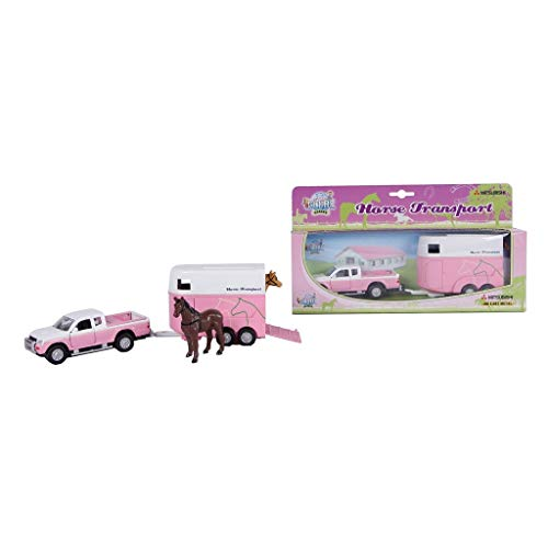 Van Manen Kids Globe Traffic 520124 - Coche de Juguete para niñas (Escala 1:32, Motor retráctil), Color Rosa y Blanco