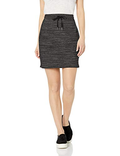 Amazon Brand - Daily Ritual Women's Terry Cotton and Modal Sweatshirt Skirt, Charcoal Grey Spacedye, Medium