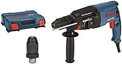 Bosch Professional 06112A4000 Martillo perforador, mandril de cambio SDS-plus, energía de impacto 2,7 J, en maletín, 830 W, 240 V, azul, 44.6 x 36 x 11.6 cm