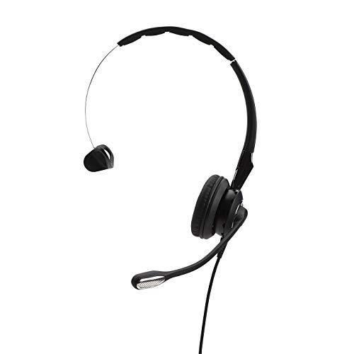 Jabra Biz 2400 II QD Mono haltbares Call-Center-Kabel-Headset mit Überkopfbügel/Nackenbügel/Ohrhaken zur Wahl für Festnetztelefonie