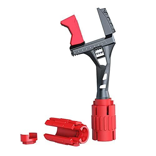 Instalador de grifo y fregadero, 24 en 1, llave de enchufe, llave multiusos herramienta de fontanería para inodoro/fregadero/baño/cocina instalación de fontanería herramientas de mano (rojo)