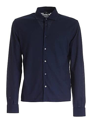 Herno Luxury Fashion Uomo JPL004U520059200 Blu Cotone Camicia | Ss21