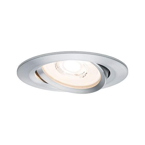 Paulmann 93943 Einbauleuchte LED Reflector Coin flache Einbaustrahler 3x6,8W Deckenspot Alu dimmbar und schwenkbar Akzentbeleuchtung