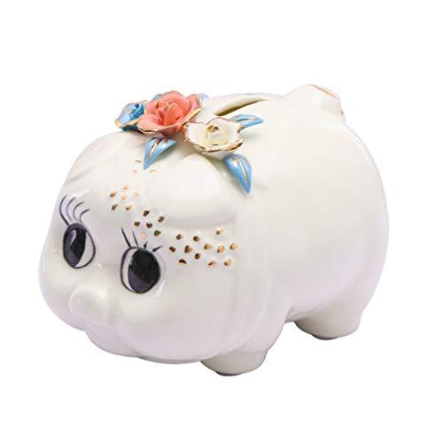 TOYANDONA Tirelire Tirelire en Céramique Tirelire Épargne Tirelire Boîte Pots Cochon Figurine Bureau Pépinière Décor pour Adulte Enfants Anniversaire Pâques Cadeaux