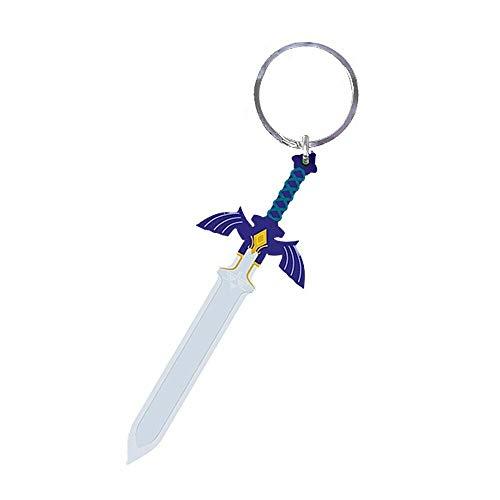 Pritties Accessories Llavero de goma con diseño de espada maestra de Zelda